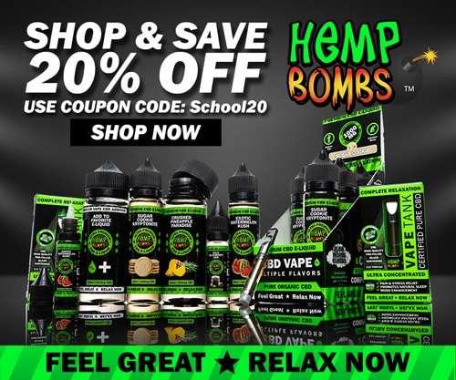 Hemp Bombs CBD Vape Oil Ad