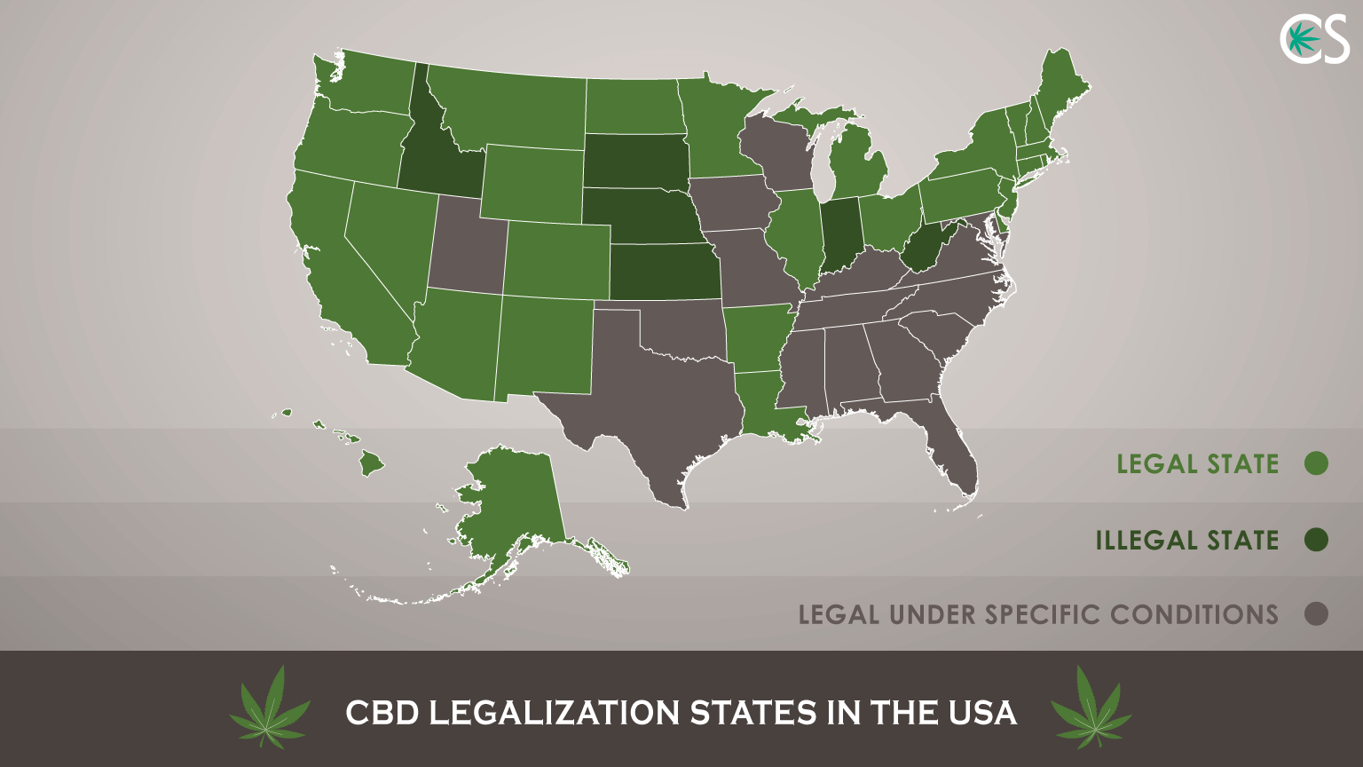 CBD Laws by State in USA till 2018