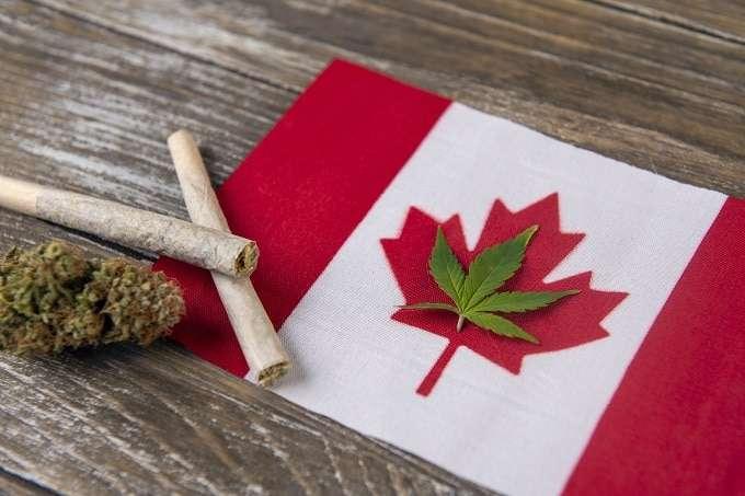 Cannabis On Canada Flag