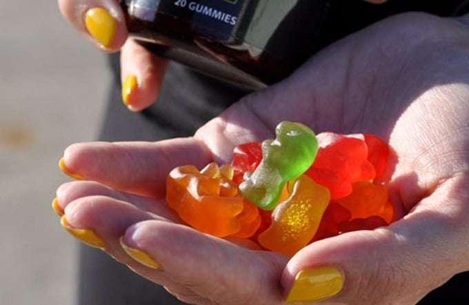 Holding CBD Gummies