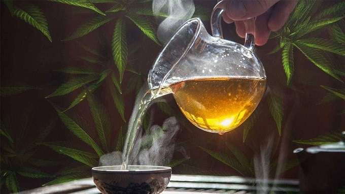 Infused Cannabis tea