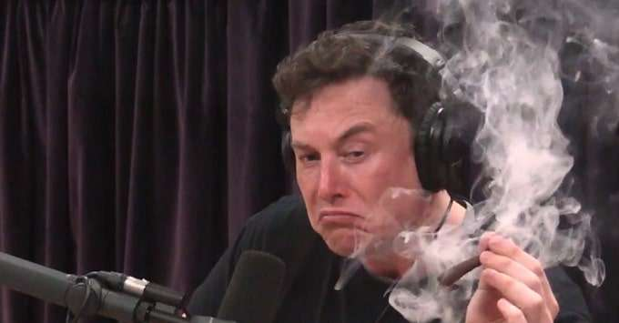 Elon Musk smoking marijuana