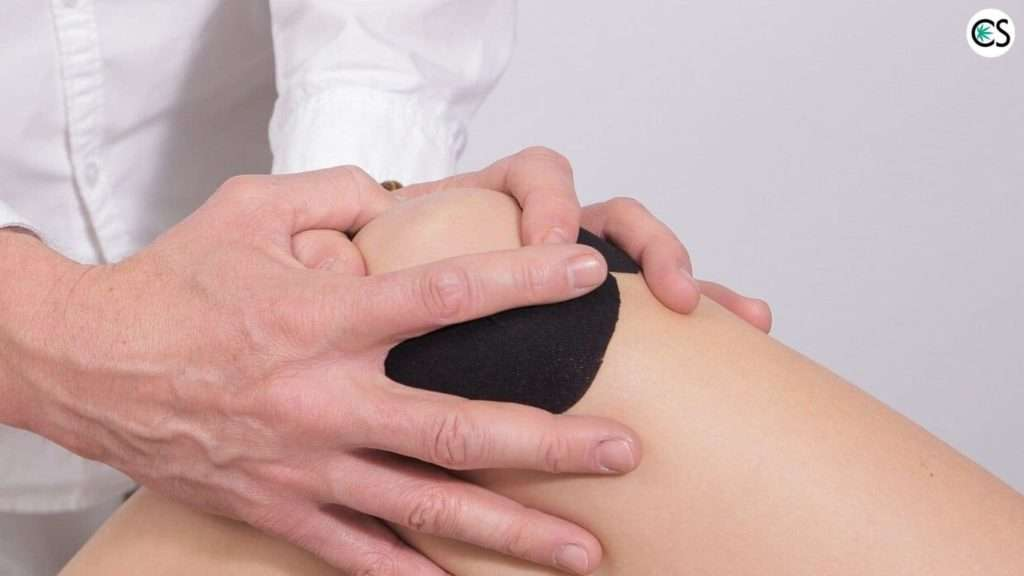 massaging knee