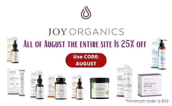 joy organics august 2020 sale